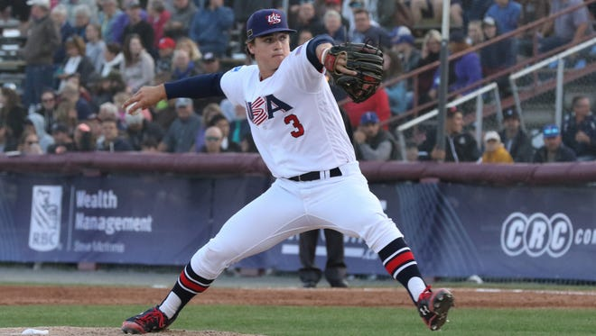 J.T. Ginn records the final out in Team USA's 8-0 gold medal victory over Korea.