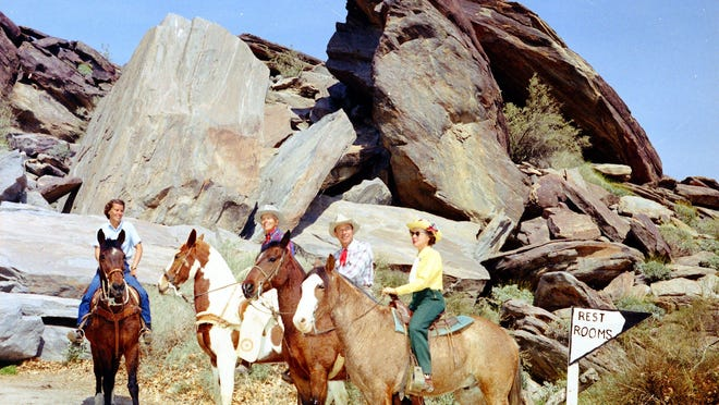 Desert Riders on a ride, 1963.