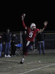 Strathmore Nick Salas catches the ball for at touchdown