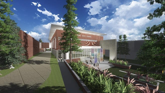 A renderieng of the new School of Arts building. Money raised from the project has come from fundraising.