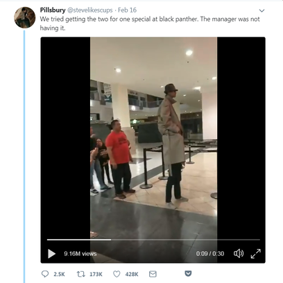 A video posted on Twitter showing two boys trying to