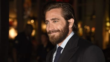Jake Gyllenhaal arrives for the premiere of 'Everest' at the TCL Chinese Theatre in Hollywood.