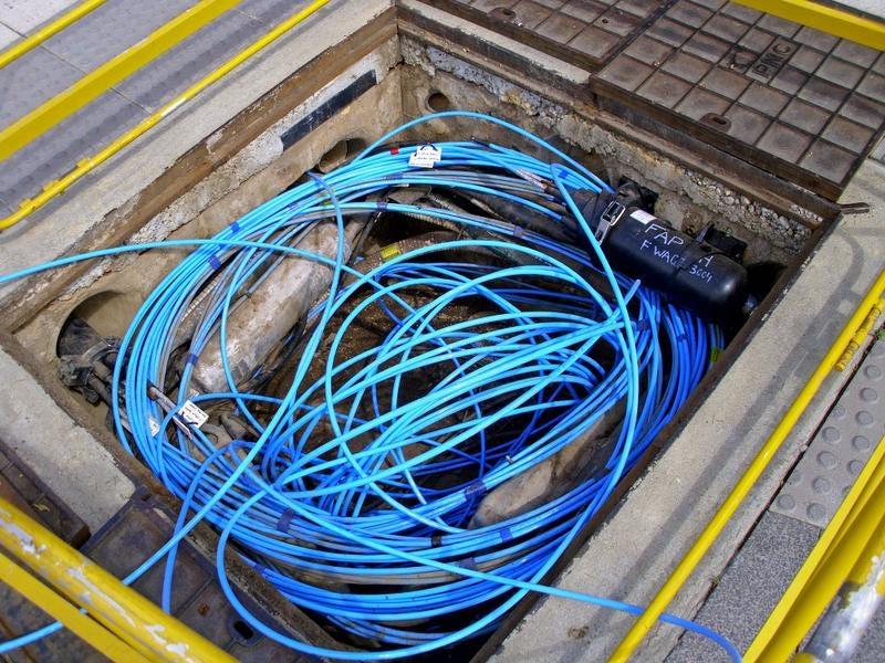 fiberopticcable fiber optic project heading to area