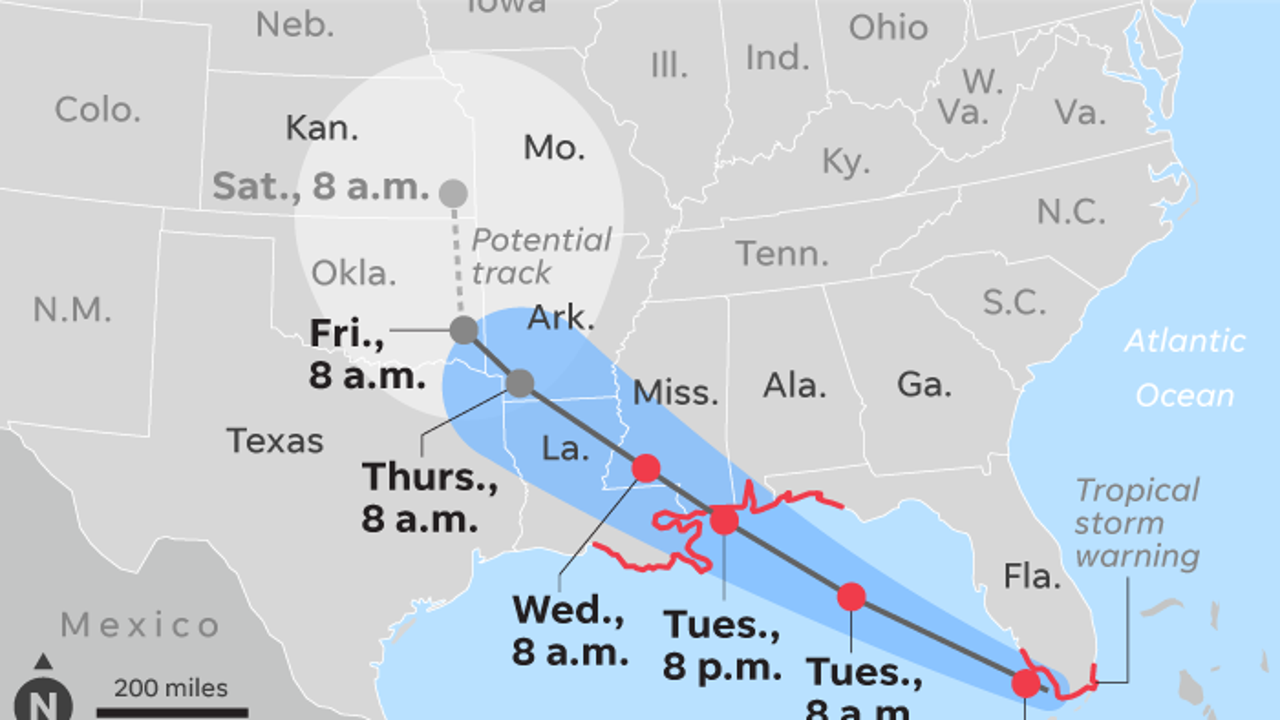 Tropical Storm Gordon takes aim at Gulf Coast after battering Florida