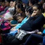 Pregnant women wait for  medical tests in Guatemala City on Feb. 2, 2016.