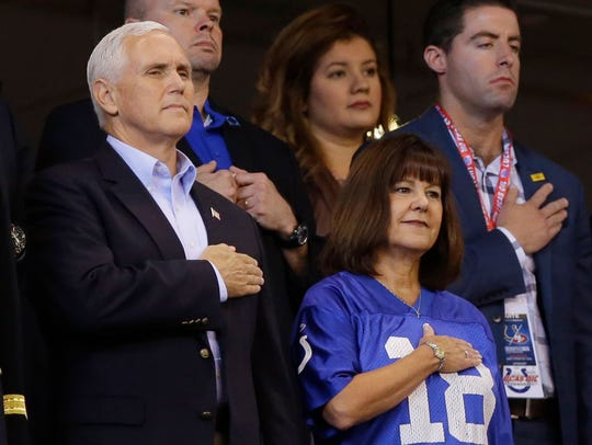Vice President Mike Pence and his wife, Karen Pence,