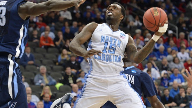 North Carolina Tar Heels guard P.J. Hairston drives to the basket against the Villanova Wildcats in the first half during the second round of the 2013 NCAA tournament.