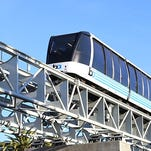 A train on the Bay Area Rapid Transit system.
