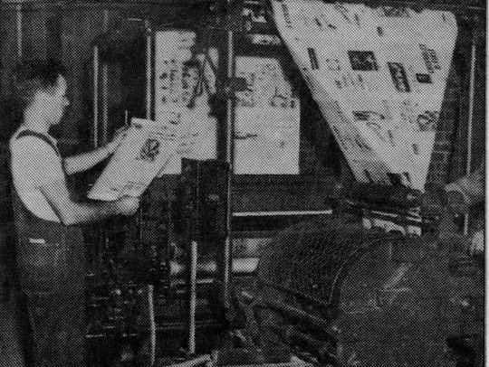 Printing the Daily World,  1947.