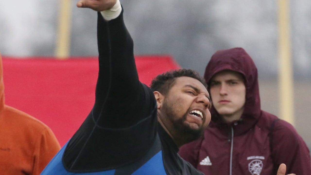 The All-Greater Rochester performer's decision to change his methods in the shot put and discus throw during his senior year has paid off. He won Monroe County Championships in both events in 2018.