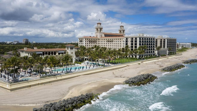 All is quiet Monday at The Breakers Palm Beach which closed last week over concerns about the coronavirus. The hotel said it would stay closed for at least three weeks.