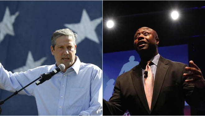 Tim Ryan, left, and Tim Scott will speak at Iowa political events in the summer of 2018.