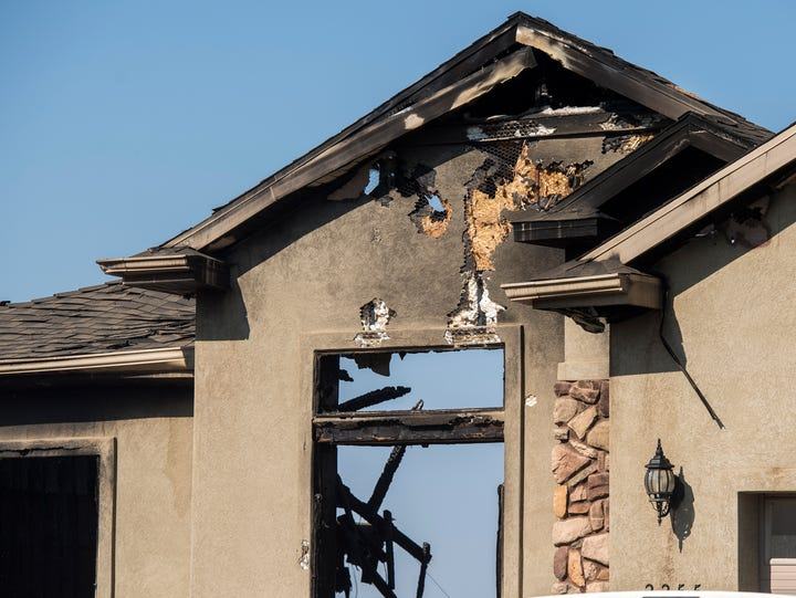 The remains of a Cedar City home that burned on August