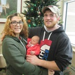 The first baby of the New Year born in Medford was at 4:05 p.m. Jan. 1, 2015, at the Aspirus Birthing Center to Gabrielle Lazar of Hawkins and Wayne Ostrowski of Sheldon. Harper Marie was 20 inches and weighed 6 pounds, 10 ounces.