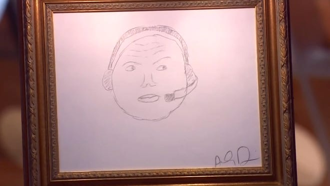 Anthony Davis drew a great sketch of Charles Barkley.