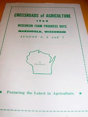 The official program from the 1960 Wisconsin Farm Progress Days in Wood County showcases the theme, Crossroads of Agriculture. The 2018 theme for Wisconsin Farm Technology Days in Wood County is Farm Forward.