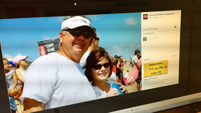 The Oceana Volunteer Fire Department posted this photo of Terry Andres on its Facebook page.