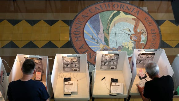 Voters cast their ballots in California's primary election