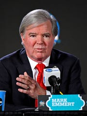 NCAA President Mark Emmert at the Final Four.