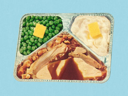 Old fashioned TV dinner.