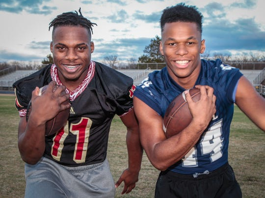 Riverdale's Savion Davis (left) and Siegel's Lelan Wilhoite are two of the three finalists for the DNJ's All-Area Football Player of the Year.