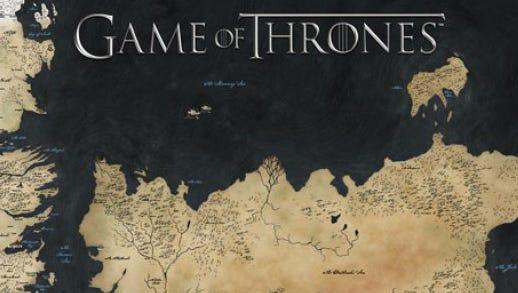 Map of Westeros and Essos