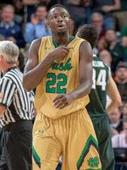 Notre Dame Fighting Irish guard Jerian Grant (22) pauses