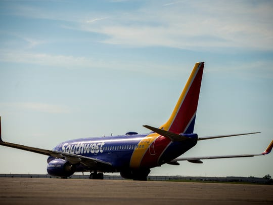 The first Southwest Airlines plane to depart from Cincinnati/Northern