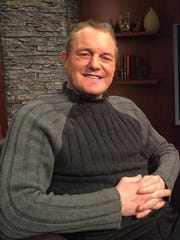 Former Detroit Red Wing Darren McCarty on the set of Michigan Matters.