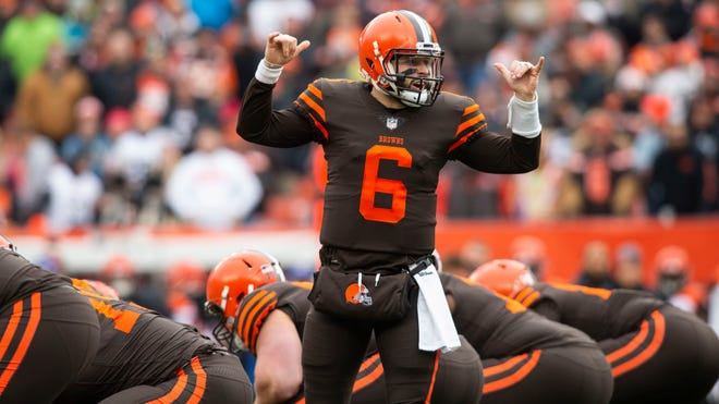 Cleveland quarterback Baker Mayfield grasped the offense and took his shots at plays downfield as a rookie, even without Odell Beckham Jr. as a target.