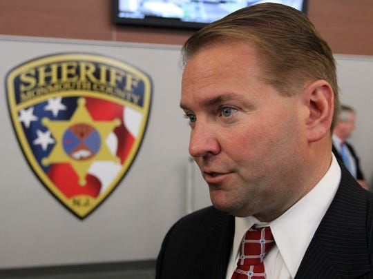 Monmouth County Sheriff Shaun Golden is shown in the new 911 Call Center in Freehold Township on April 29, 2014.