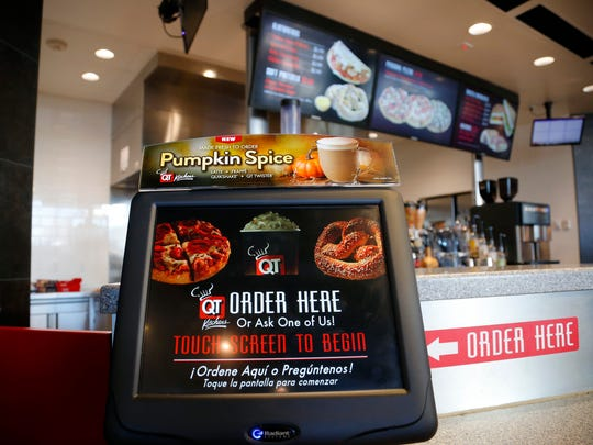 Touchscreen ordering at the QuikTrip convenience store