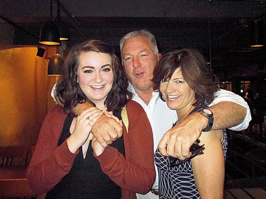 Nicole Kalister (L), Dr. Rick Kalister and Betty Hall Kalister (R) died in a Plainville, Massachusetts, plane crash that slammed into a home Sunday. Betty and Rick were former residents of Alamogordo.