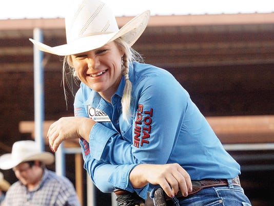 """Those life lessons will always serve a cowgirl well. The taste of dirt in her mouth, the pain of a hard-ground landing and the sting of the tears as she fights them back are physical memories that translate to that """"grown-up living"""" everybody talked about."""