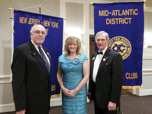 Local Exchangite installed as district president: Exchange Club of Hanover member George Hubbard was installed as district president for the Mid-Atlantic District Exchange Clubs at the recent Bi-District Convention of the Mid-Atlantic and New Jersey/New York District Exchange Clubs held in Harrisburg. Hubbard will be serving his second consecutive term as president. The District consists of 27 clubs with approximately 750 members. The District includes all of Pennsylvania, western New York and Maryland. Hubbard was installed with Frank McCall, district president of the New Jersey/New York District Exchange Clubs by National Exchange Club Executive Vice President and Chief Executive Officer, Tracey Edwards. From left are Frank McCall, Tracey Edwards and George Hubbard.