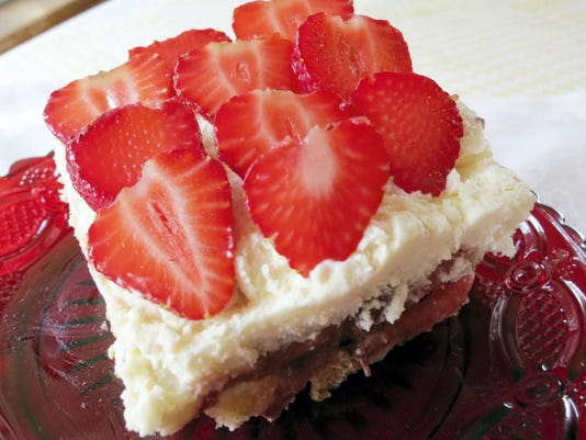 Strawberry tiramisu can be made the night before and unveiled for a large gathering or family picnic.