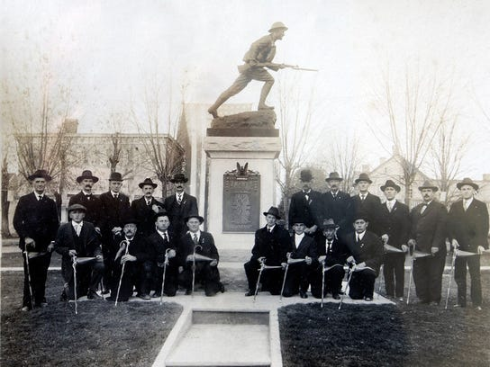 A 1927 dedication of the square in Jefferon. The restored WWI gun is returned to the square Tuesday June 2, 2015 in Jefferson. Submitted - York Daily Record/ Sunday News