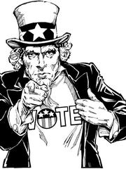 The classic image of Uncle Sam has been used for a