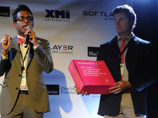 Anish Sebastian and Ross Powell of Babyscrips pitch