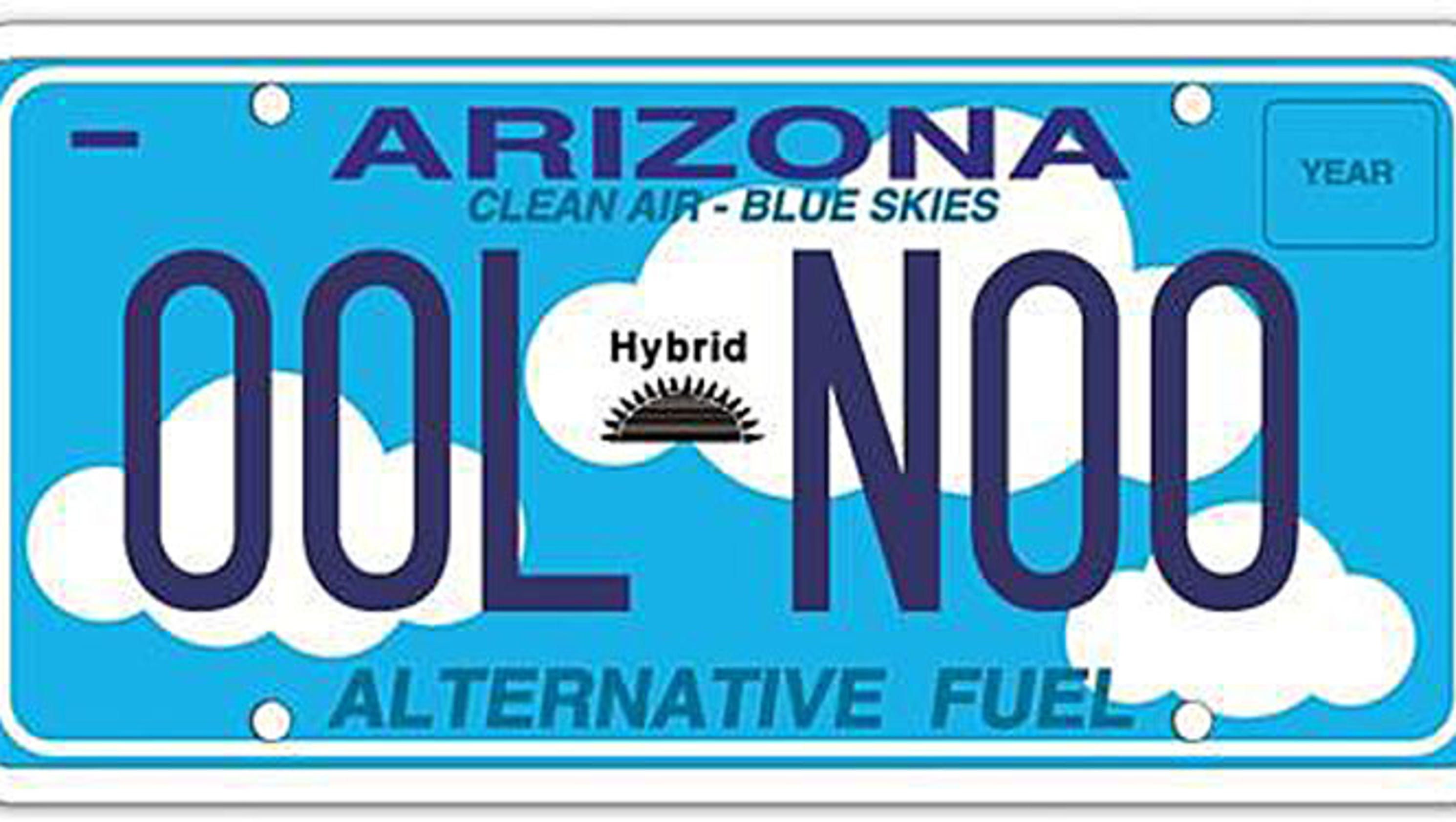 Arizona hits brakes on energy-efficient license-plate program