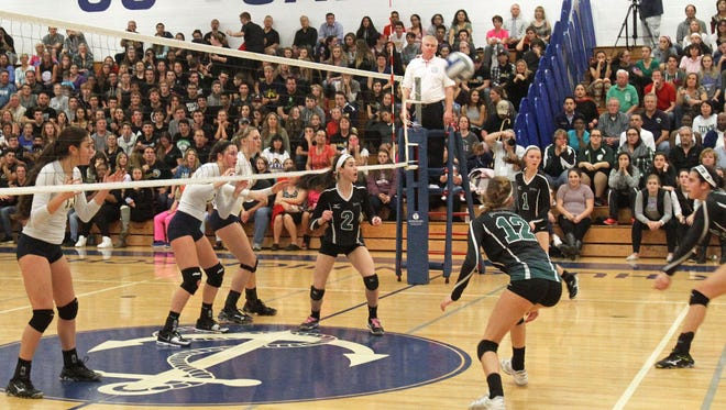 Walter Panas defeated Yorktown in the Section 1 Class A championship volleyball game at Hendrick Hudson High School in Montrose Nov 6, 2015.