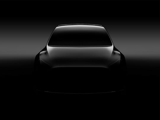 A teaser photo of Tesla's Model Y