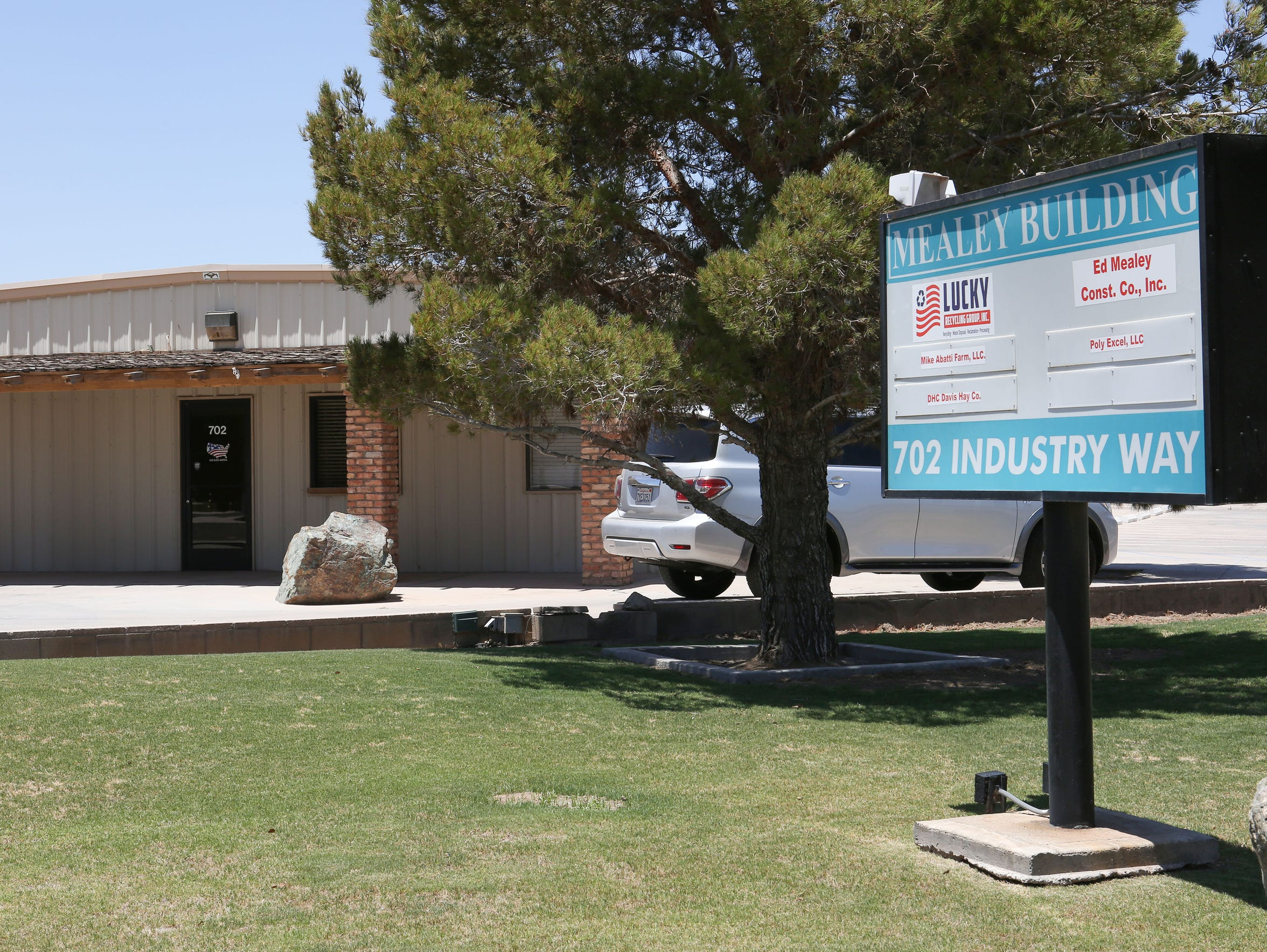Outside the Mealey Building in El Centro, California,