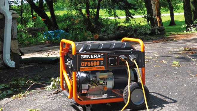 Portable generators come to the rescue in a storm when power is lost. It's very important to always use them outside of the house and never open windows when in use.