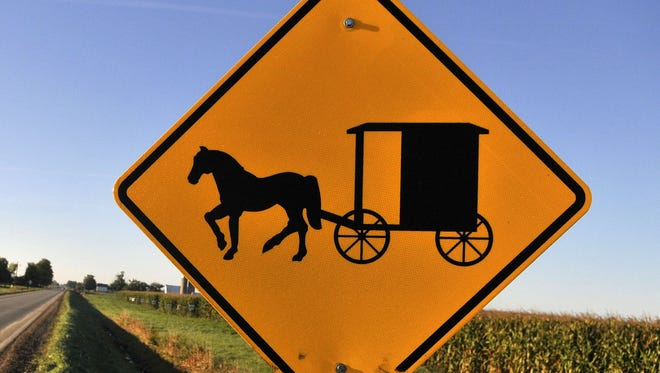 "Timothy Hochstedler launched his own ""Amish Uber"" business, transporting people around the village in his horse and buggy for a $5 fare."