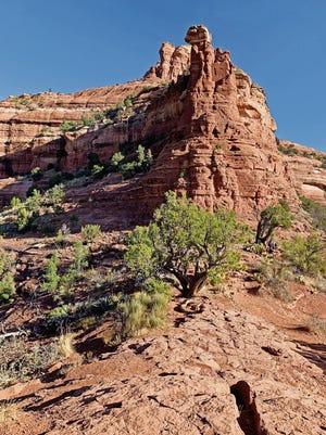 Kachina Woman rock formation in Sedona, Arizona.
