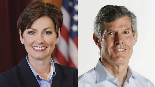 Gov. Kim Reynolds and Democratic candidate Fred Hubbell