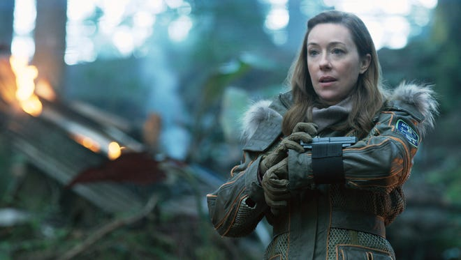 """June Robinson (Molly Parker) is a take-charge rocket scientist and mother of three in Netflix's """"Lost in Space."""""""