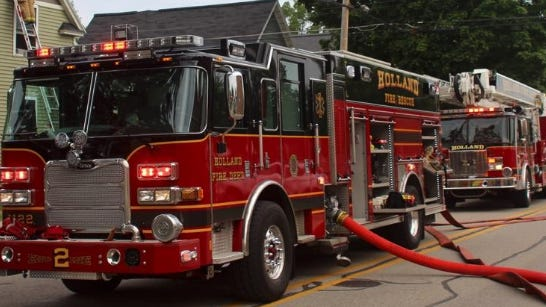 Holland firefighters responded to a call late Thursday to a report of a residential fire on East 34th Street.