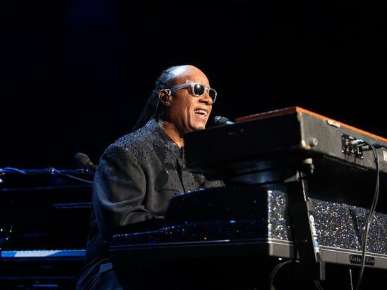 Stevie Wonder sings during his Songs In The Key of